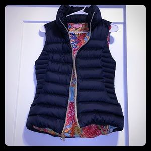 Lilly Pulitzer Navy blue puffer vest!